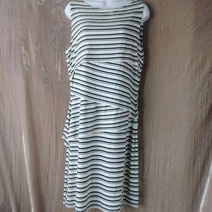 Cynthia Rowley layered sheath dress sleeveless